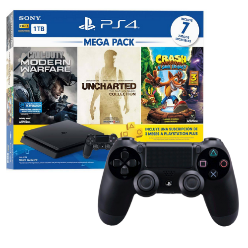 [INN0705] Combo Consola Sony PlayStation 4 Mega Pack 2 + Control Ps4