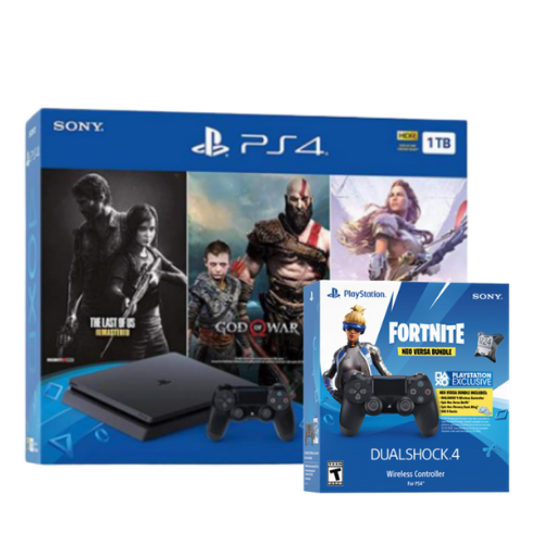 [INN0736] Combo Consola Bundle The Last Of Us + God of War Game + Horizon Zero Dawn + Control PS4 Fortnite